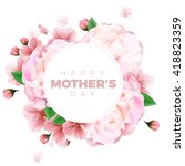 happy mothers day background... | Shutterstock .eps vector #418823359