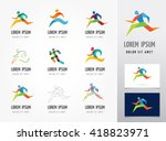 running marathon  people run ... | Shutterstock .eps vector #418823971