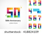 anniversary   abstract colorful ... | Shutterstock .eps vector #418824109