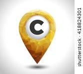 map yellow pin  creative design....