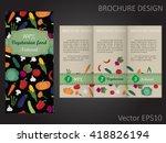 vegetarian brochure template...   Shutterstock .eps vector #418826194