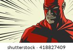 comic book red stylized... | Shutterstock .eps vector #418827409
