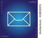 envelope mail icon. email... | Shutterstock .eps vector #418828351