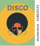 disco party event flyer.... | Shutterstock .eps vector #418829191