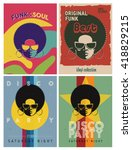disco party event flyers set.... | Shutterstock .eps vector #418829215