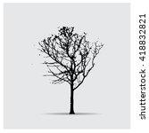 vector tree silhouettes | Shutterstock .eps vector #418832821