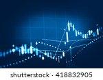 stock market chart. business... | Shutterstock . vector #418832905