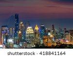 bangkok skyline panorama before ... | Shutterstock . vector #418841164
