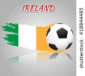 ireland symbol with the soccer... | Shutterstock .eps vector #418844485