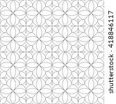 thin line monochrome geometric... | Shutterstock .eps vector #418846117