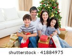 young family having fun with... | Shutterstock . vector #41884975