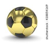 golden soccer ball on white... | Shutterstock . vector #418854169