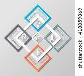 infographic diamonds business... | Shutterstock .eps vector #418859869