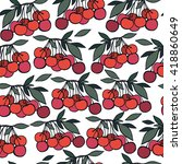 seamless pattern with cherry. | Shutterstock .eps vector #418860649