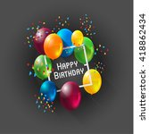 abstract celebration birthday...   Shutterstock .eps vector #418862434