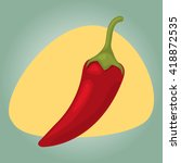 vector illustration of spicy... | Shutterstock .eps vector #418872535