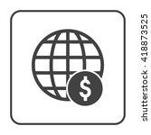 global dollar icon | Shutterstock .eps vector #418873525