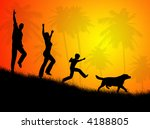 illustration about happy family ... | Shutterstock . vector #4188805