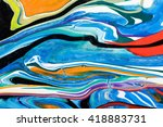 closeup view of an original... | Shutterstock . vector #418883731