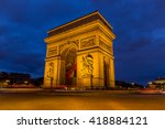 arc de triomphe in paris  france | Shutterstock . vector #418884121