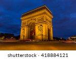 arc de triomphe in paris  france   Shutterstock . vector #418884121
