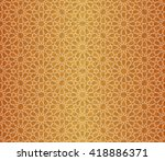 islamic pattern. seamless... | Shutterstock .eps vector #418886371