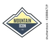 mountain icon. logo vector... | Shutterstock .eps vector #418886719