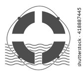 lifebuoy icon. retro badge.... | Shutterstock .eps vector #418887445