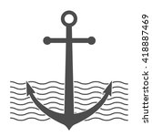 anchor icon. retro badge. black ... | Shutterstock .eps vector #418887469