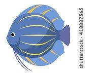 aquarium fish flat vector.... | Shutterstock .eps vector #418887565