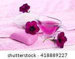 spa treatments with flowers on...   Shutterstock . vector #418889227
