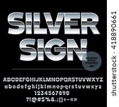 vector set of modern silver... | Shutterstock .eps vector #418890661