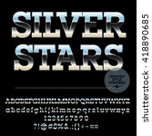 vector set of stylish silver... | Shutterstock .eps vector #418890685