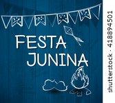 festa junina brazil topic... | Shutterstock .eps vector #418894501
