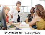 unposed group of creative... | Shutterstock . vector #418899601