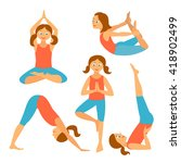 yoga kids set.vector... | Shutterstock .eps vector #418902499