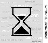 pixel sand clock cursor black... | Shutterstock .eps vector #418908391