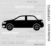 car profile black vector icon | Shutterstock .eps vector #418908931