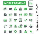 mobile banking icons  | Shutterstock .eps vector #418913659