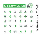 gps navigation icons  | Shutterstock .eps vector #418913671