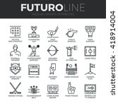modern thin line icons set of... | Shutterstock .eps vector #418914004