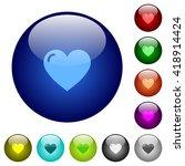 set of color heart shape glass...