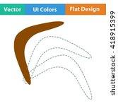 flat design icon of boomerang...