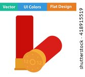 flat design icon of ammo from...