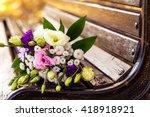 bride's wedding bouquet on the...