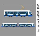 set vector mass rapid transit... | Shutterstock .eps vector #418919065