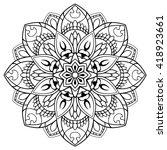 vector floral mandala. oriental ... | Shutterstock .eps vector #418923661