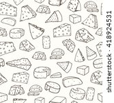 cheese pattern. seamless... | Shutterstock .eps vector #418924531