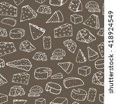 cheese pattern. seamless... | Shutterstock .eps vector #418924549