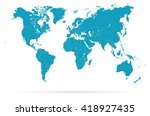 world map and navigation icons  ... | Shutterstock .eps vector #418927435